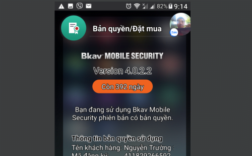 BKAV Pro Mobile Security photo review
