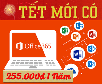 Office 365 chi 255.000đ 1 năm